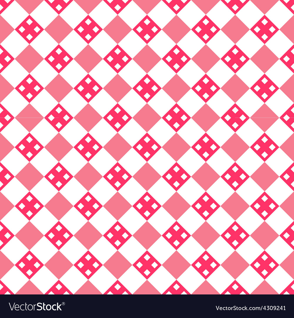 Heart shape seamless pattern pink color vector | Price: 1 Credit (USD $1)