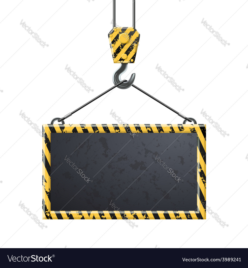Industrial hook holding frame vector | Price: 1 Credit (USD $1)
