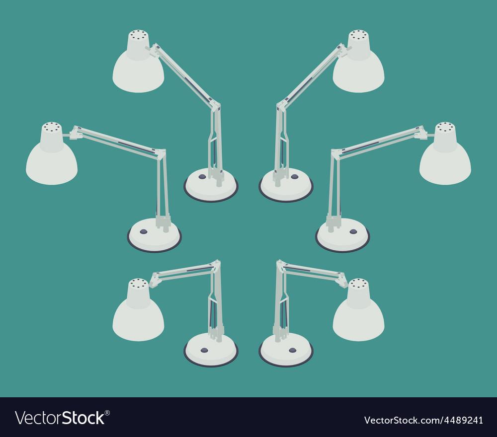 Isometric desk lamp vector   Price: 1 Credit (USD $1)