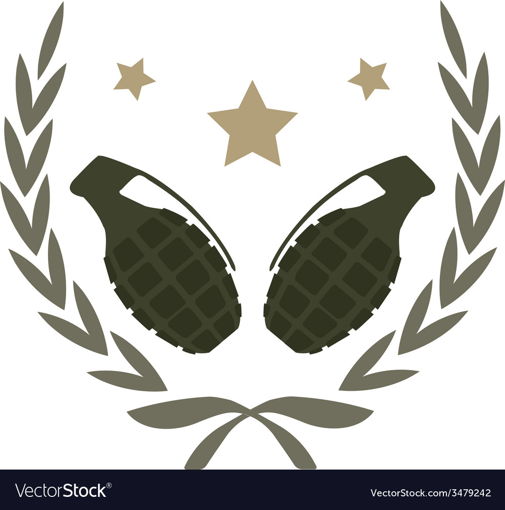 2 grenades emblem vector | Price: 1 Credit (USD $1)