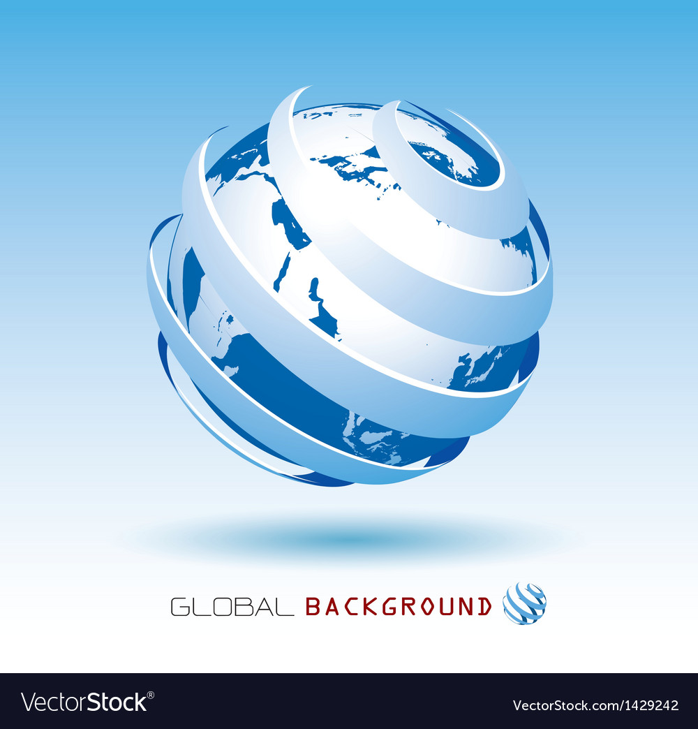 Blue global background vector | Price: 1 Credit (USD $1)