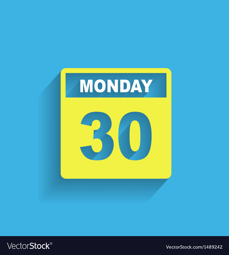 Calendar icon modern flat design vector | Price: 1 Credit (USD $1)