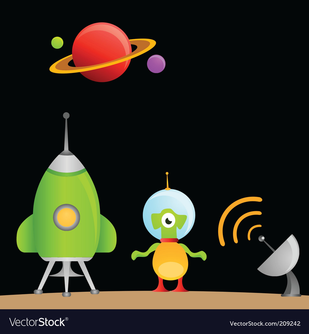 Cartoon alien vector | Price: 1 Credit (USD $1)