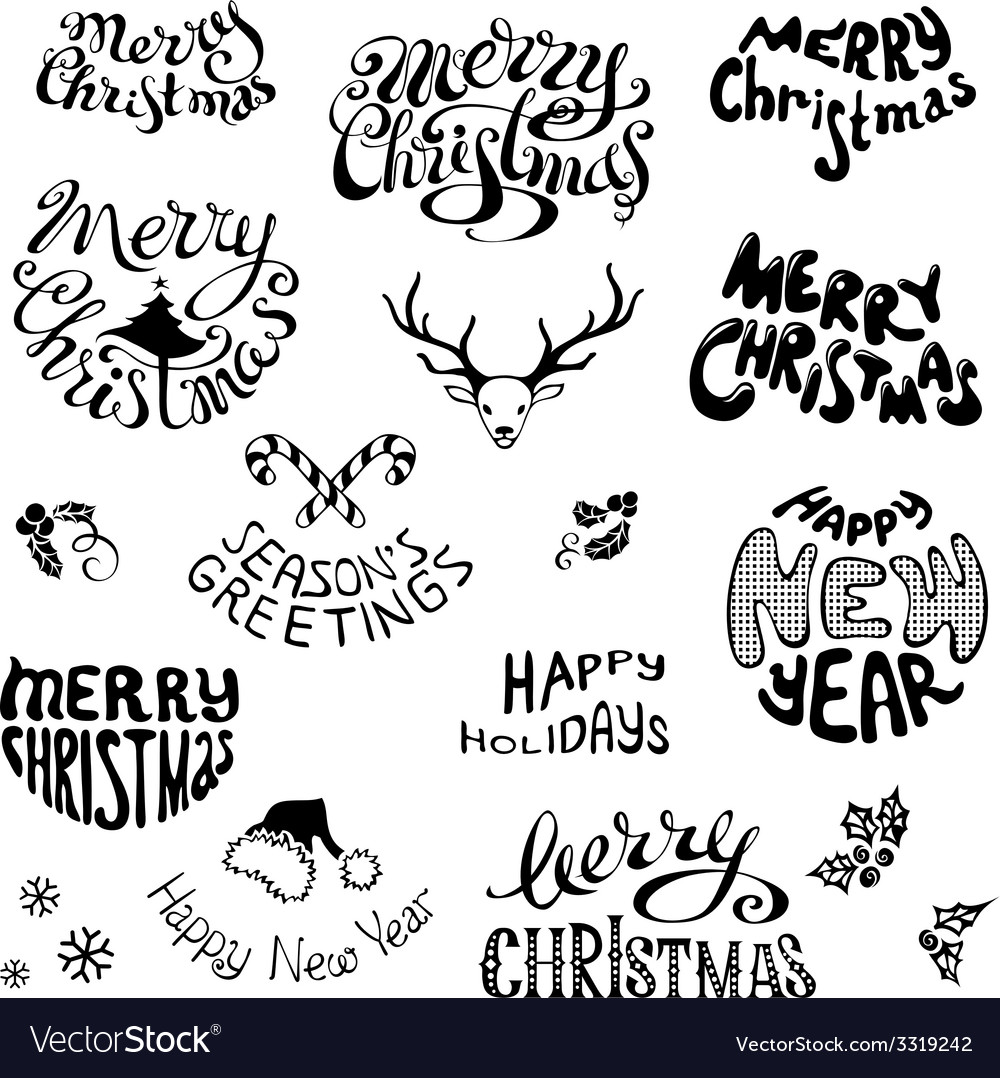Christmas icons and festive elements vector | Price: 1 Credit (USD $1)