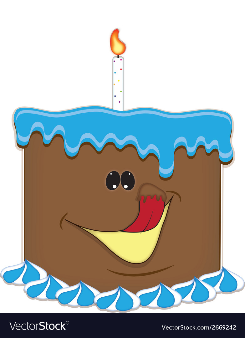 Just a taste birthday cake chocolate vector | Price: 1 Credit (USD $1)