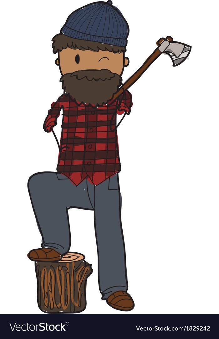 Lumberjack vector | Price: 1 Credit (USD $1)