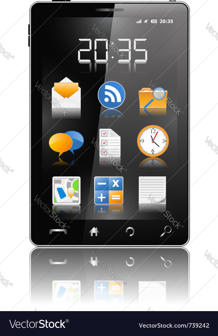 Modern black mobile phone vector | Price: 3 Credit (USD $3)