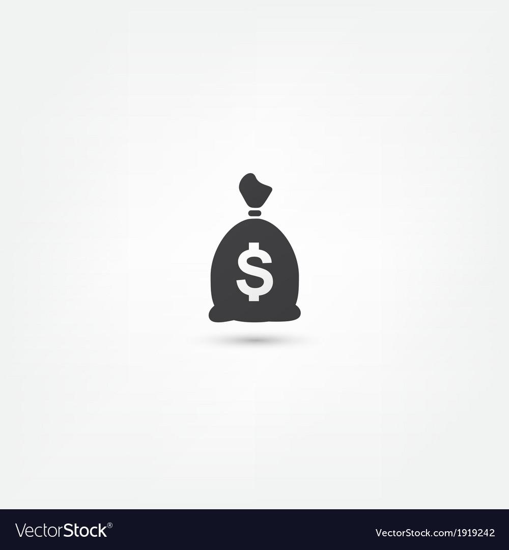 Moneybag icon vector | Price: 1 Credit (USD $1)