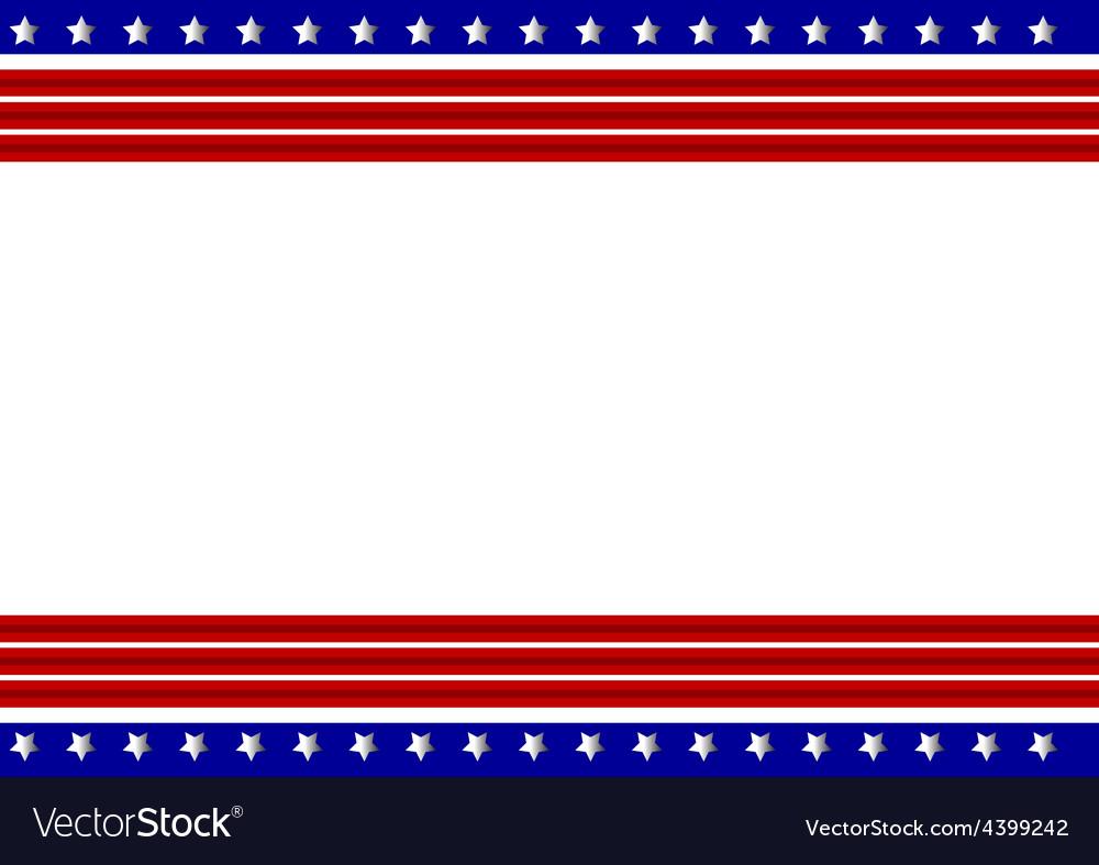 Patriotic frame background vector | Price: 1 Credit (USD $1)