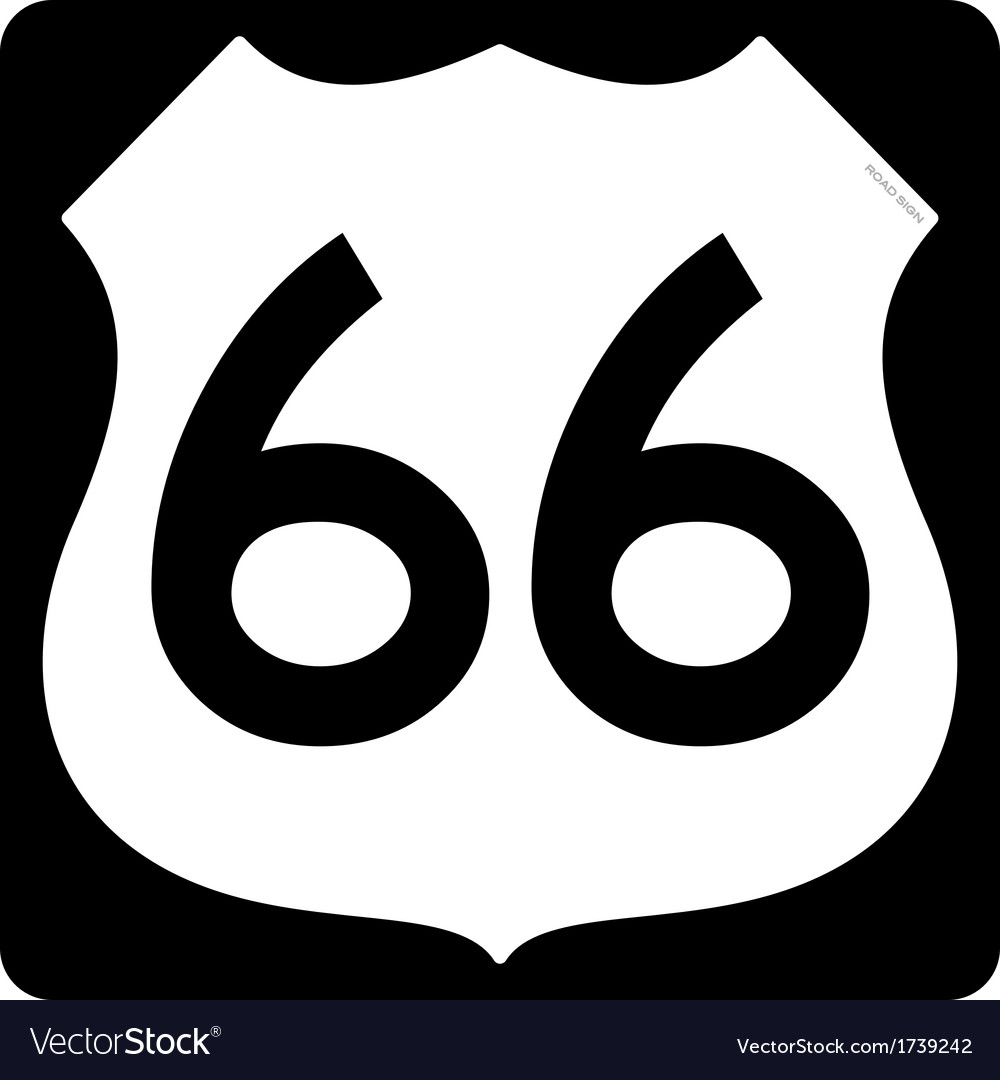 Route 66 symbol vector | Price: 1 Credit (USD $1)