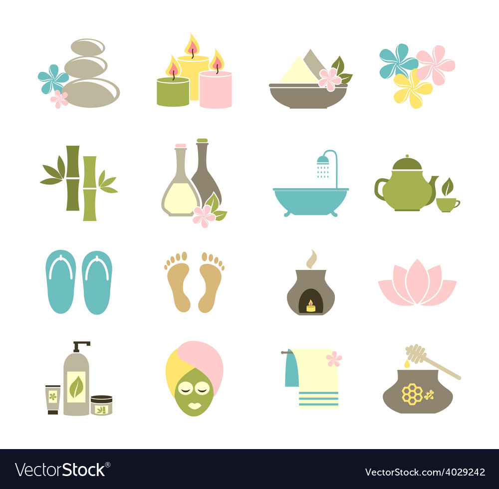 Set of flat icons for spa vector | Price: 1 Credit (USD $1)