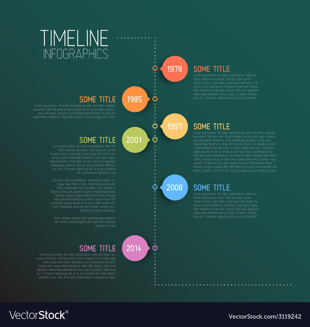 Teal infographic timeline report template vector | Price: 1 Credit (USD $1)