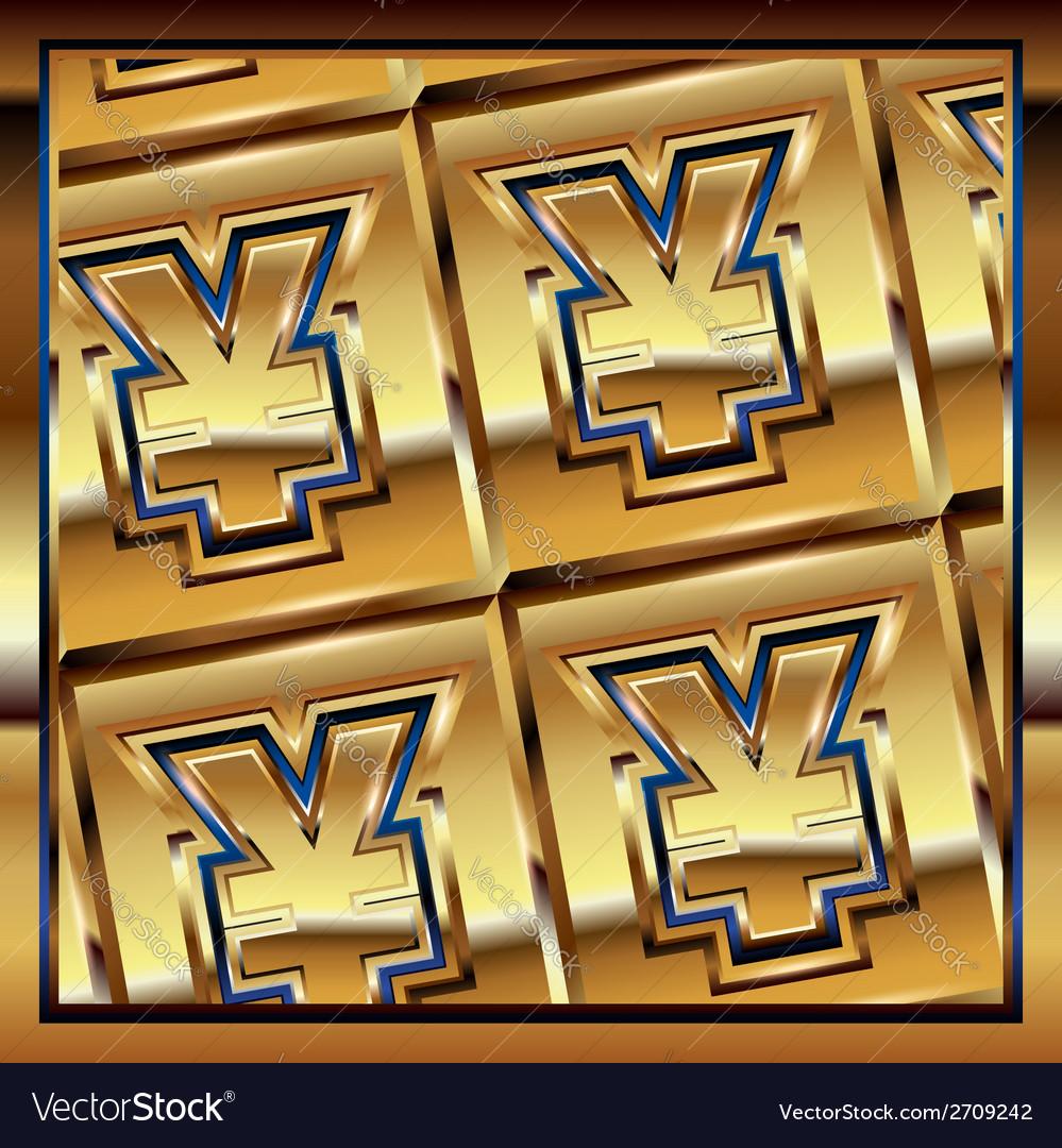 Yen ingot vector | Price: 1 Credit (USD $1)