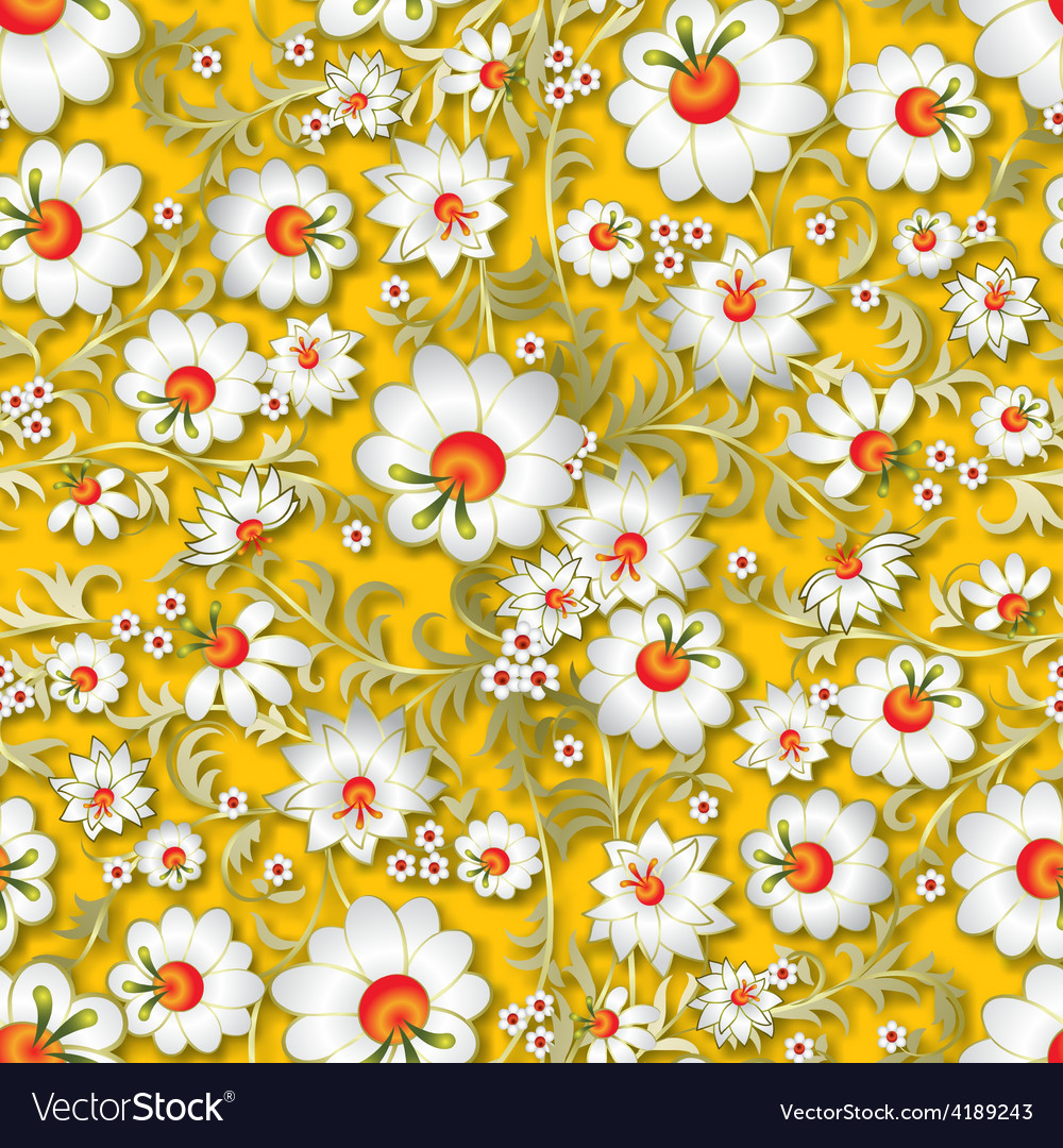 Abstract seamless spring floral ornament and vector | Price: 1 Credit (USD $1)
