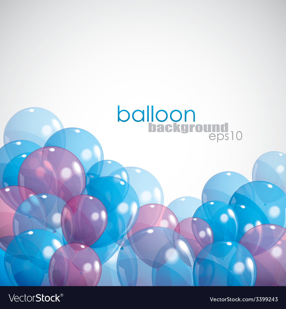 Background with balloons vector | Price: 1 Credit (USD $1)