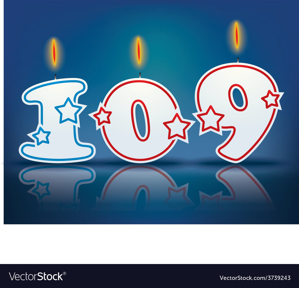 Birthday candle number 109 vector | Price: 1 Credit (USD $1)