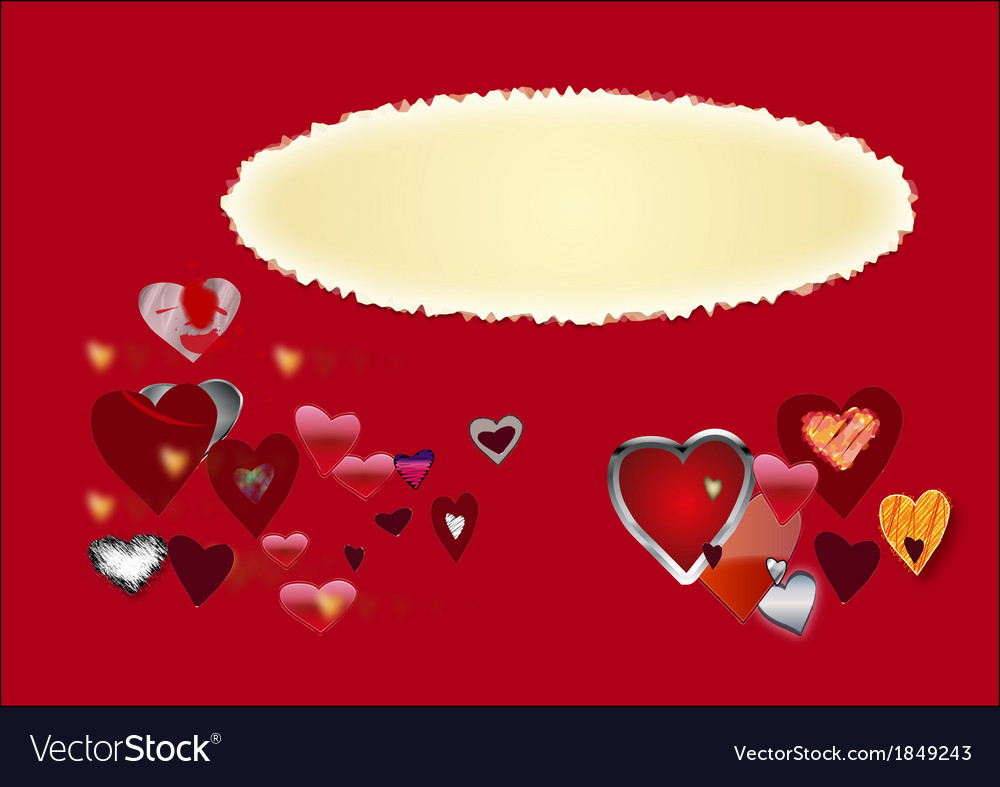 Card by st valentines day vector