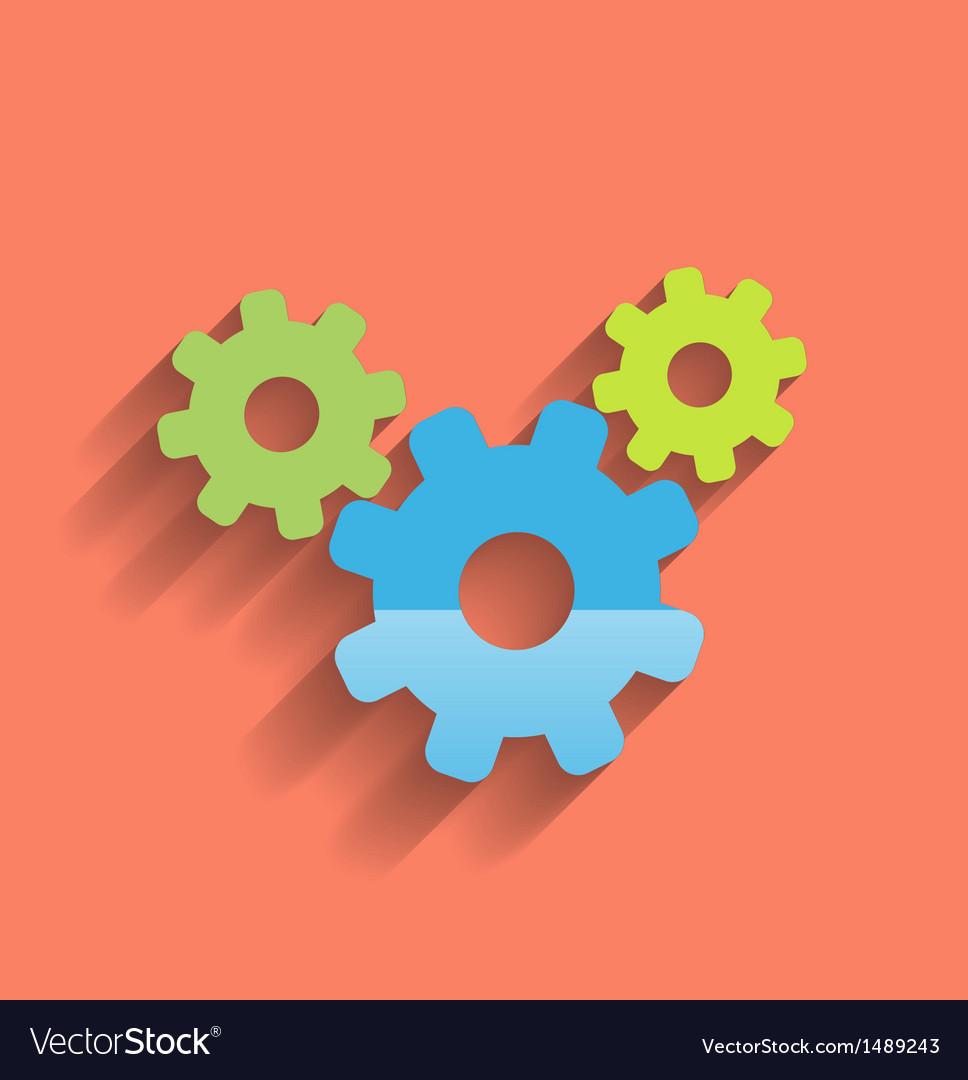 Cogwheel flat icon vector | Price: 1 Credit (USD $1)