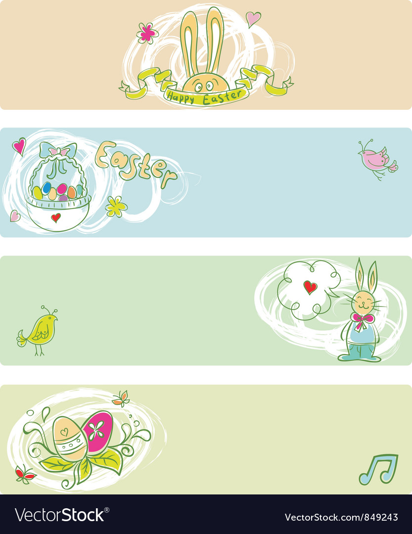 Easter doodle color templates vector | Price: 3 Credit (USD $3)