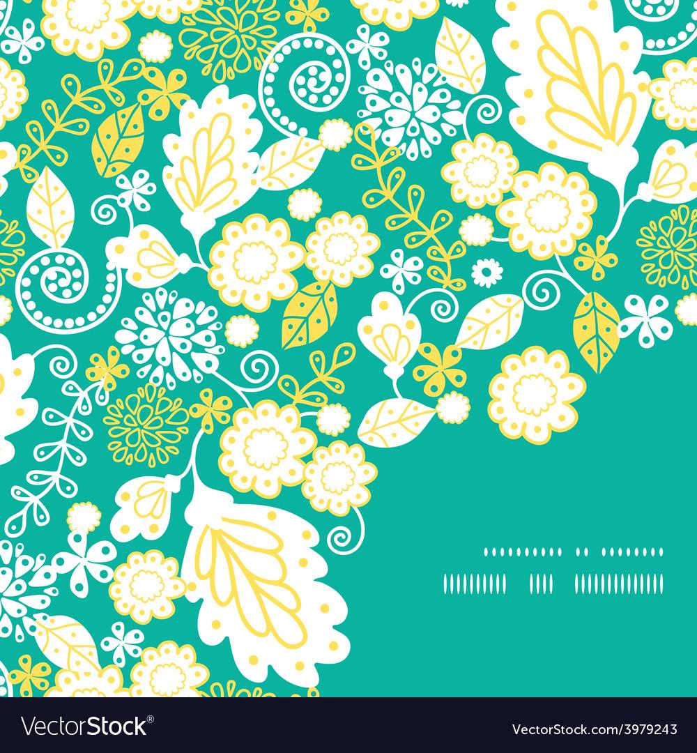 Emerald flowerals frame corner pattern vector | Price: 1 Credit (USD $1)
