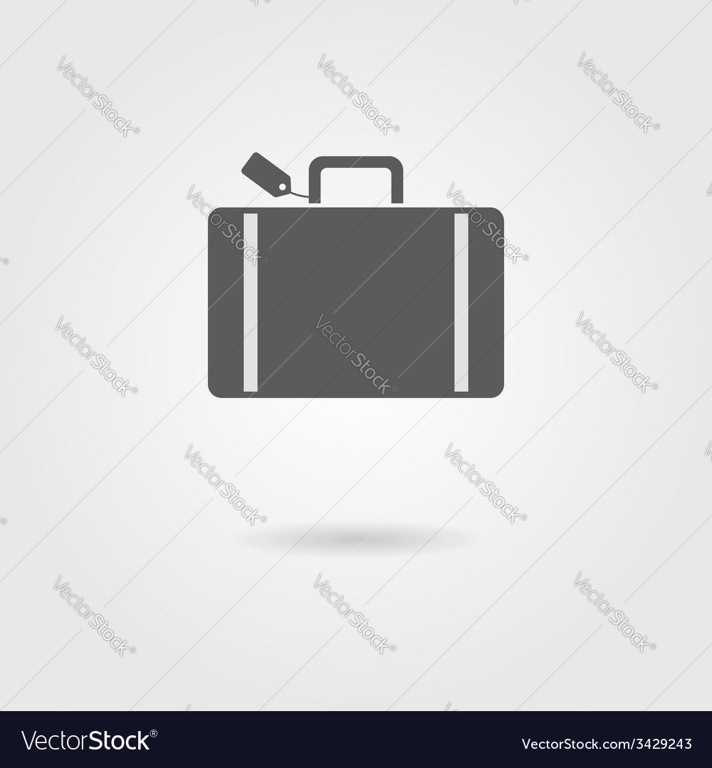 Luggage icon with shadow vector | Price: 1 Credit (USD $1)