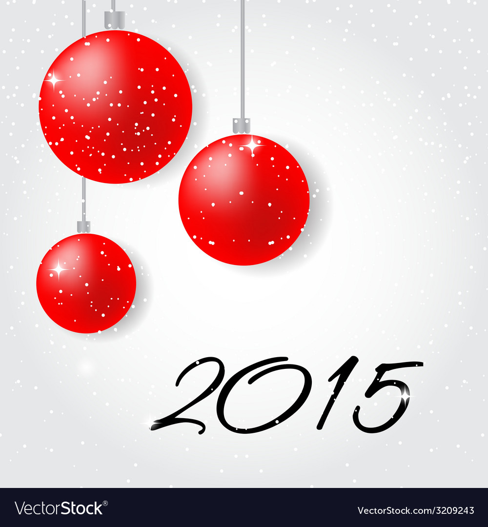 Merry christmas and happy new year 2015 vector | Price: 1 Credit (USD $1)