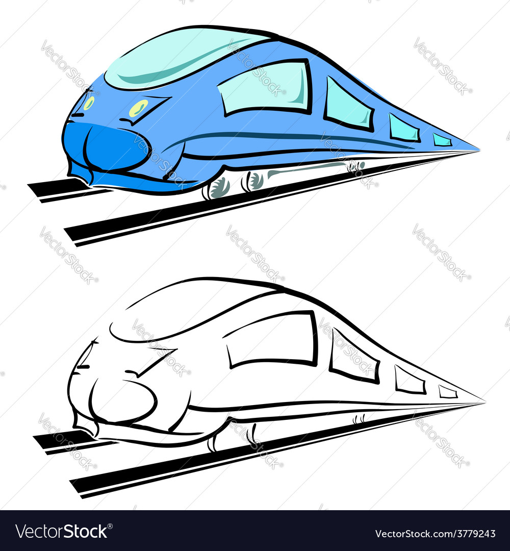 Modern train vector | Price: 1 Credit (USD $1)