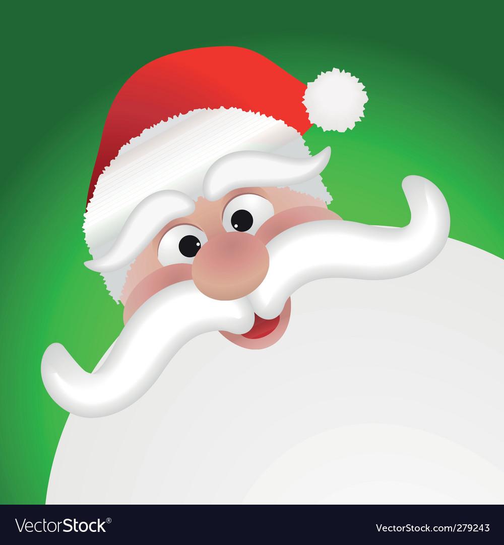 Santa claus face vector | Price: 1 Credit (USD $1)