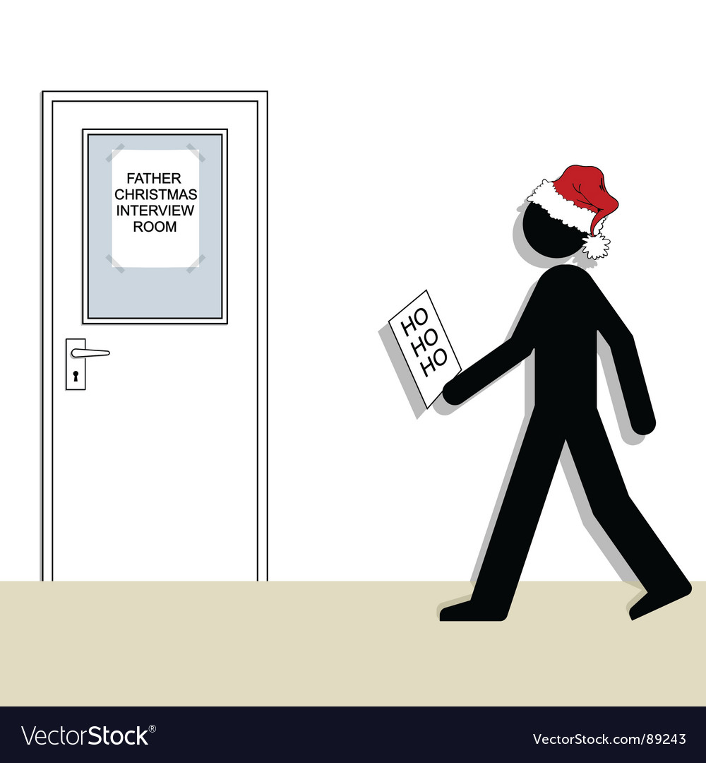 Santa interview vector | Price: 1 Credit (USD $1)