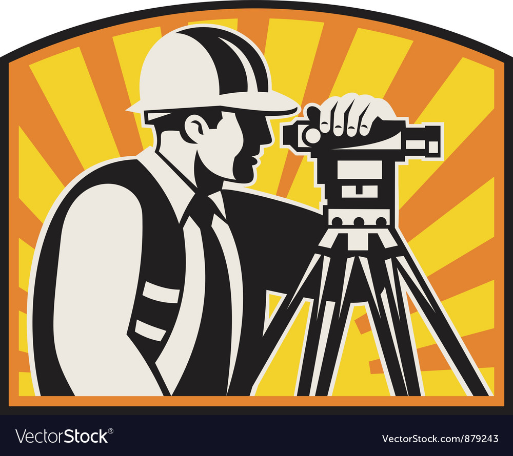 Surveyor engineer theodolite vector | Price: 1 Credit (USD $1)
