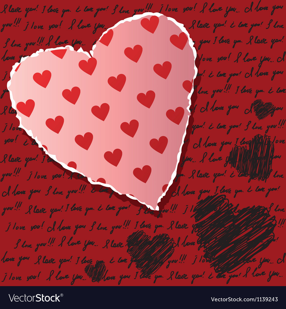 Valentines scrapbooking card vector | Price: 1 Credit (USD $1)