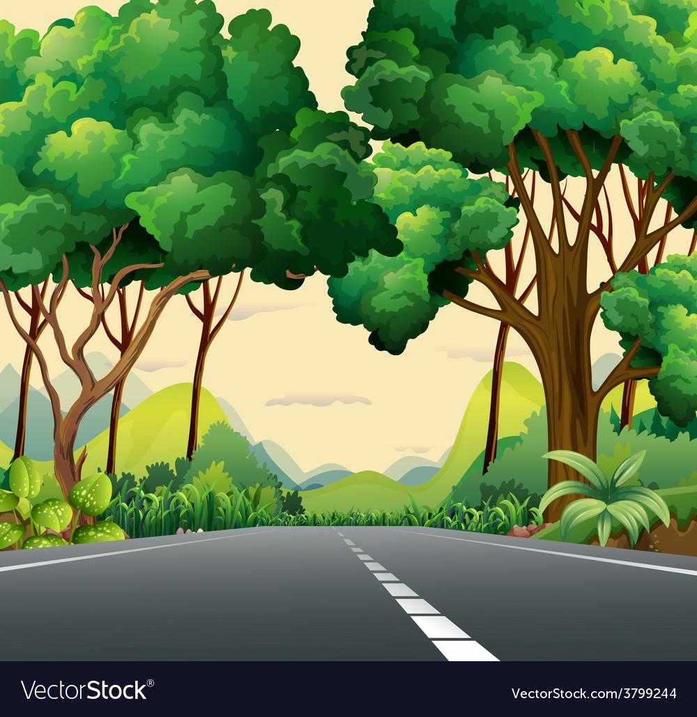 A narrow road vector | Price: 1 Credit (USD $1)