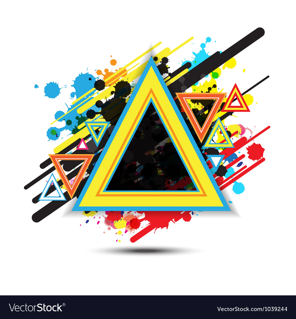 Abstract triangle background design vector | Price: 1 Credit (USD $1)