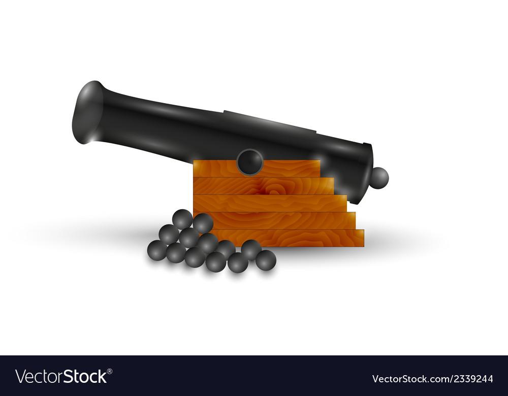Black cannon vector   Price: 1 Credit (USD $1)