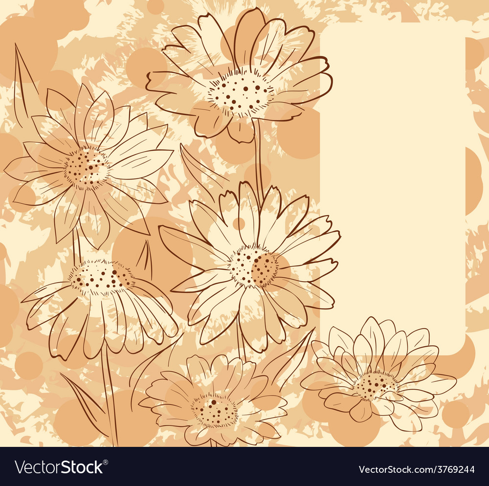 Framewithdaisies vector | Price: 1 Credit (USD $1)