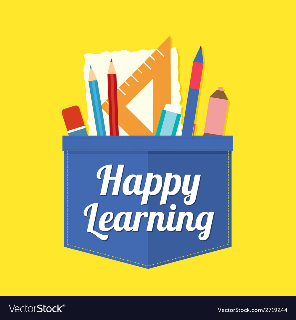 Happy learning vector | Price: 1 Credit (USD $1)