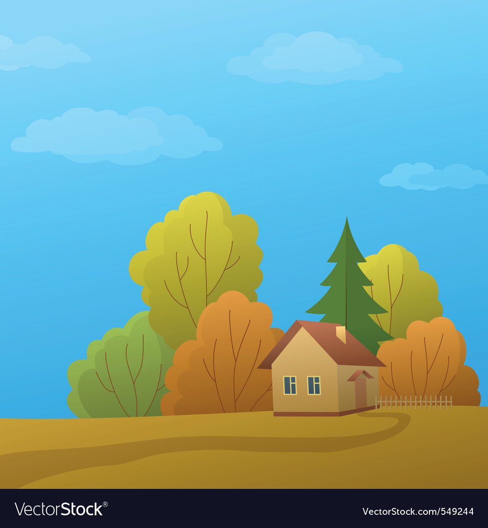 House in forest vector   Price: 1 Credit (USD $1)