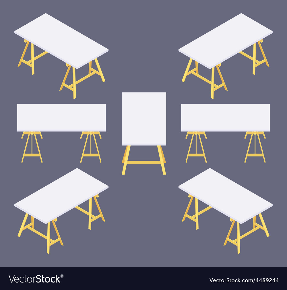 Isometric work table vector | Price: 1 Credit (USD $1)