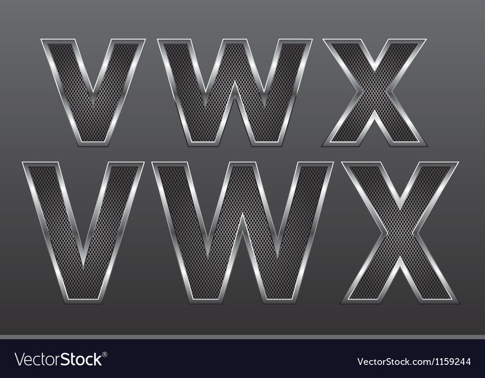 Metal letters big and small 08 vector | Price: 1 Credit (USD $1)