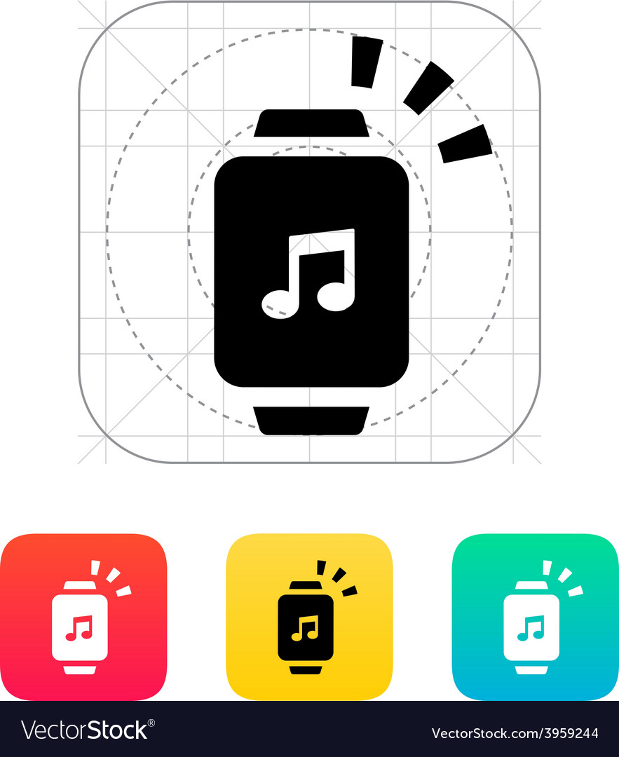 Outgoing sound from smart watch icon vector | Price: 1 Credit (USD $1)