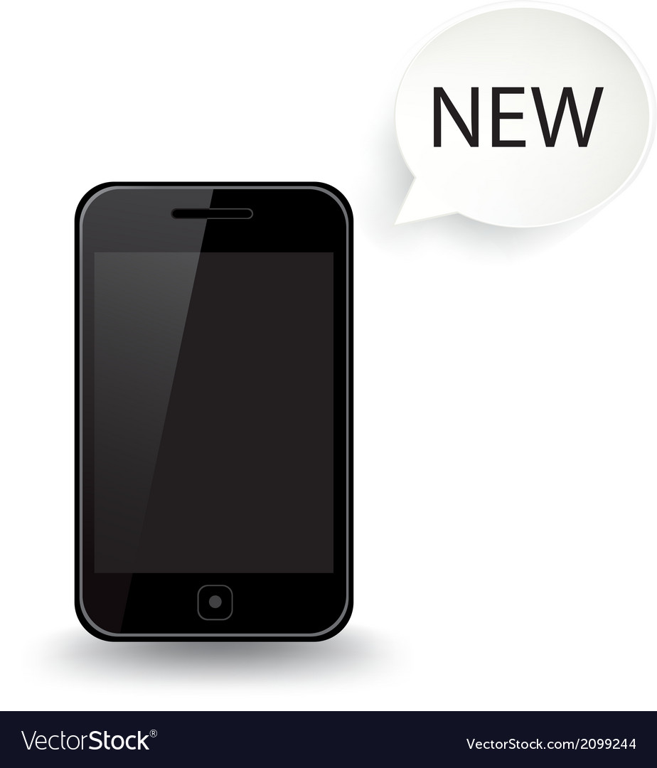 Smart phone new vector | Price: 1 Credit (USD $1)