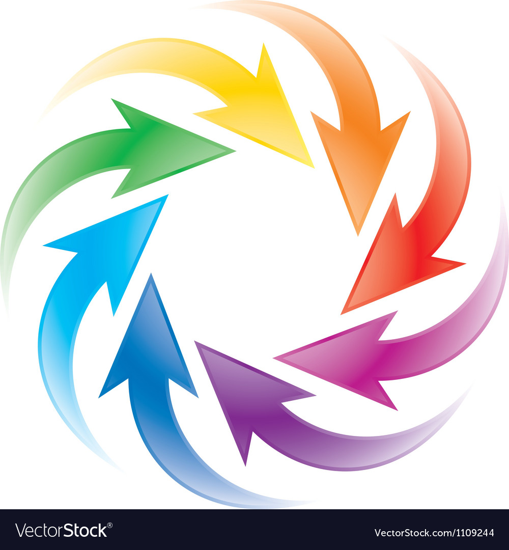 Turning colorful arrows vector | Price: 1 Credit (USD $1)
