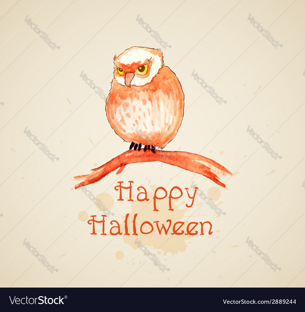 Watercolor halloween background vector | Price: 1 Credit (USD $1)