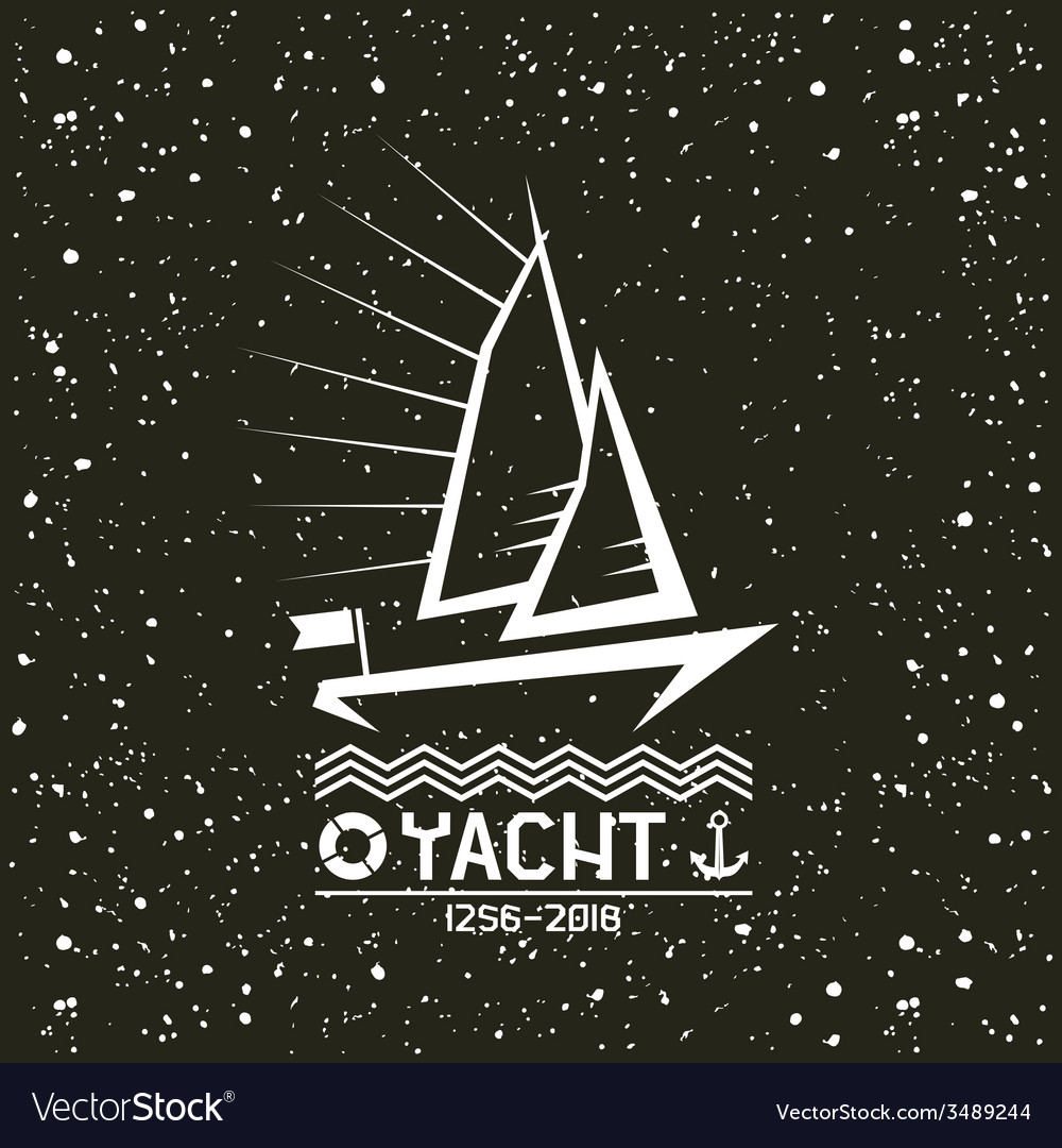 Yacht emblem vector | Price: 1 Credit (USD $1)