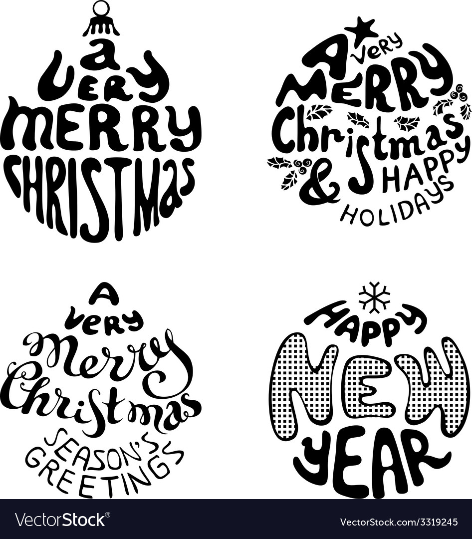 A very merry christmas and happy new year vector | Price: 1 Credit (USD $1)