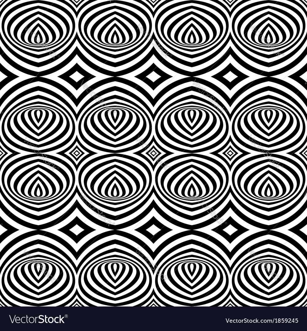 Black and white opt art seamless vector | Price: 1 Credit (USD $1)