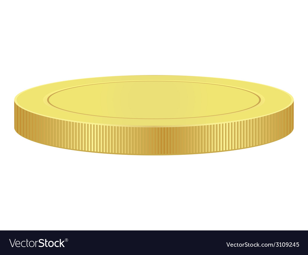 Blank gold coin vector | Price: 1 Credit (USD $1)