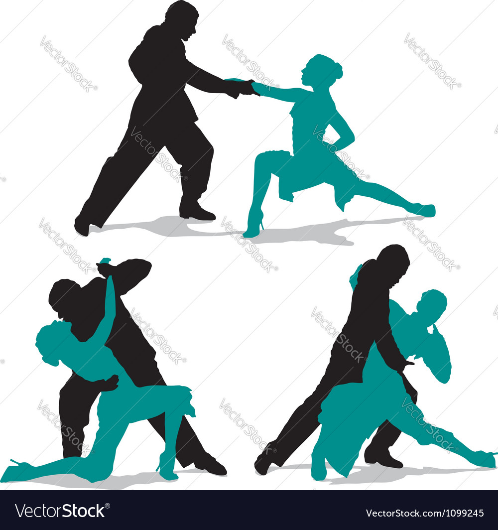Couple dancing argentine tango vector | Price: 1 Credit (USD $1)