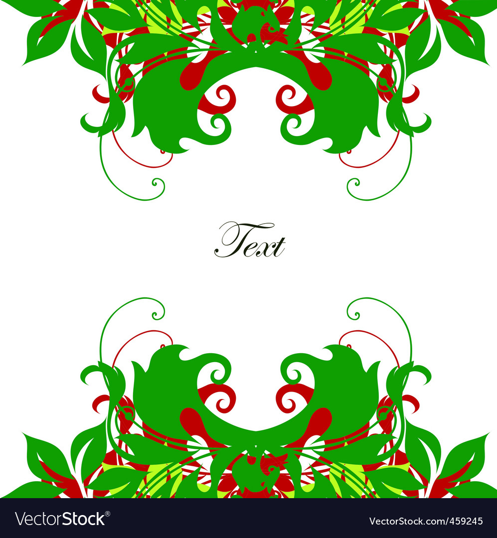 Decorative leaves vector | Price: 1 Credit (USD $1)