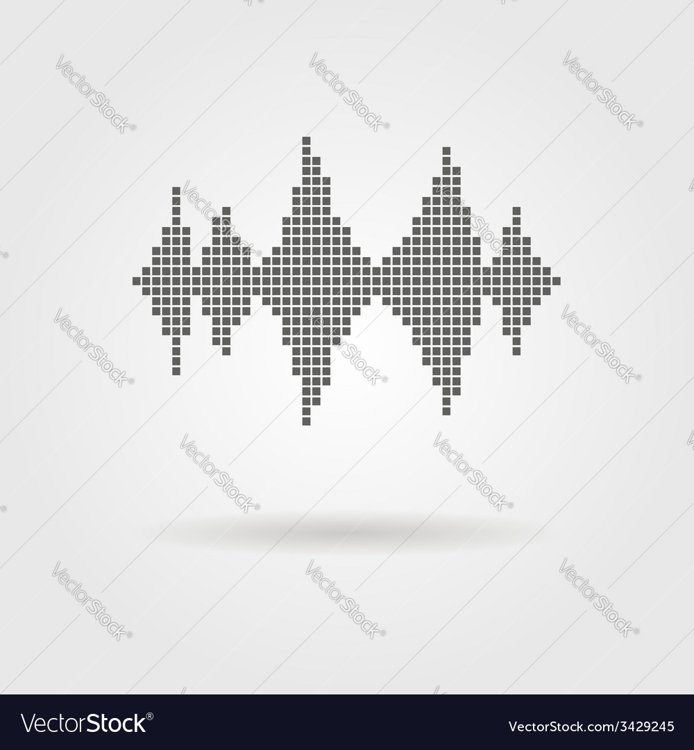 Equalizer icon with shadow vector | Price: 1 Credit (USD $1)